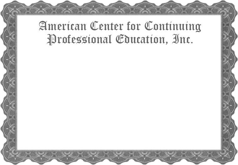 ACCPE certificate